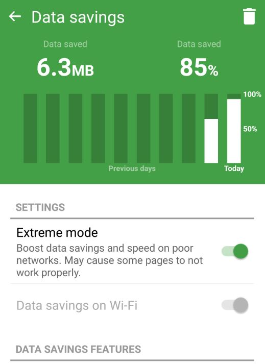 save mobile data
