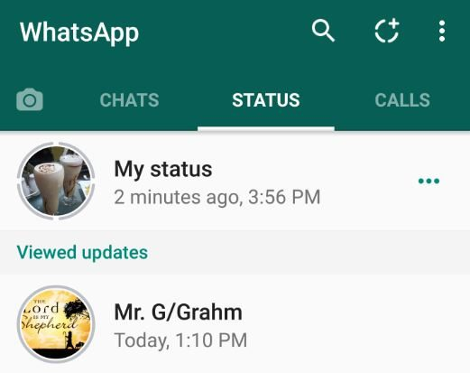 WhatsApp new status feature:Add multiple slides,post, delete