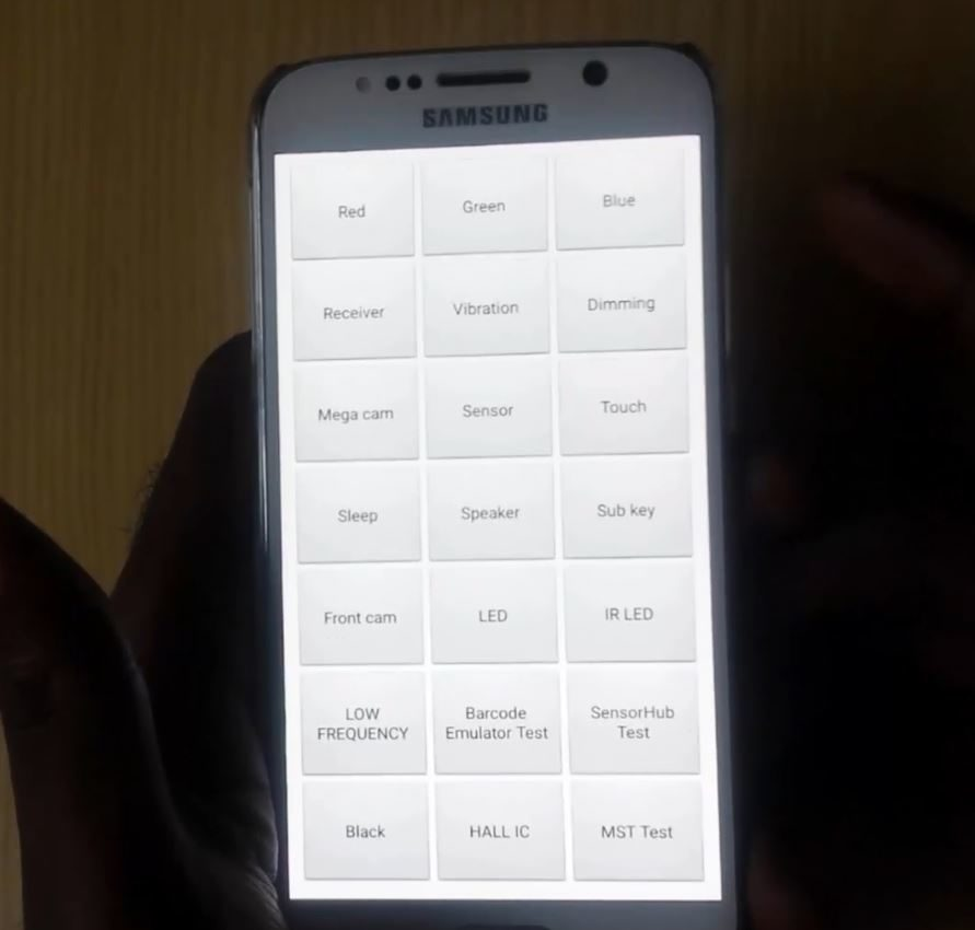 How to test Samsung Galaxy Hardware with Samsung codes