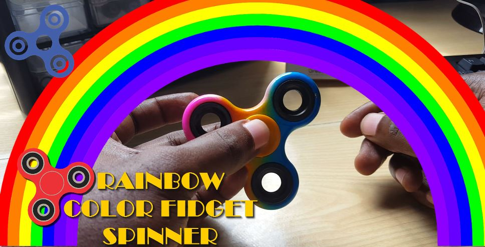 Rainbow colored Fidget Spinner
