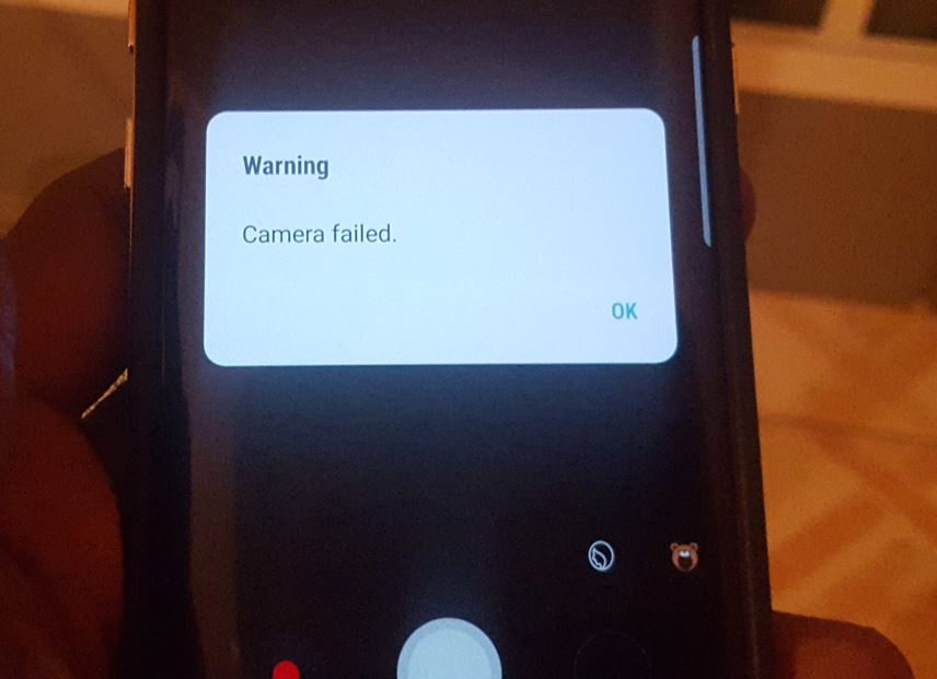 Iris Scanner, Face recognition, Front Camera Stop working on Galaxy