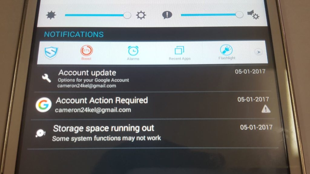 Tablet Storage space running out