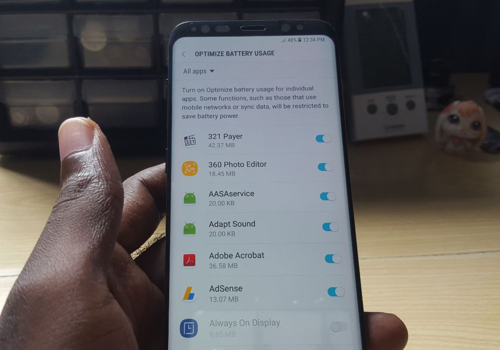 delayed notifications from Apps Galaxy S8 or S8 Plus