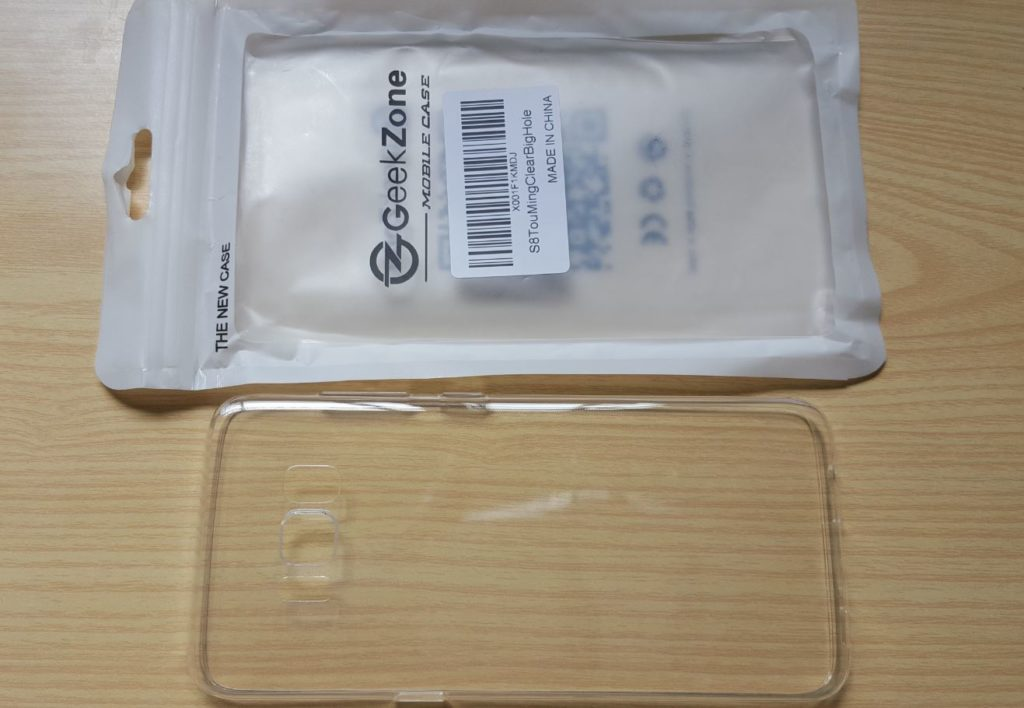 GeekZone Galaxy S8 Slim Fit Crystal Clear Case