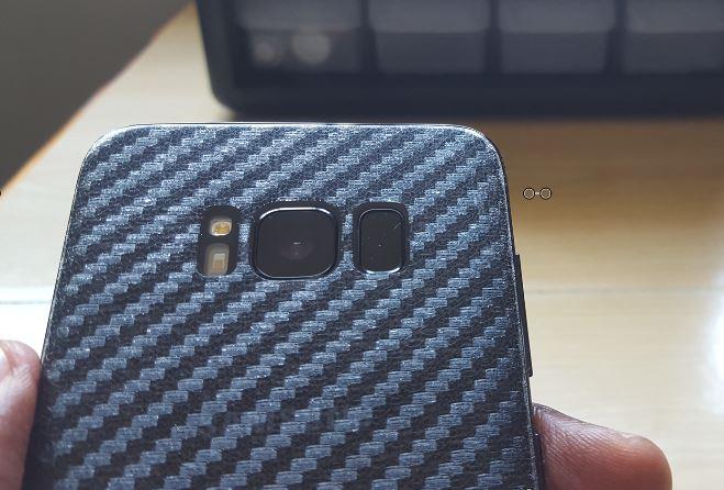 super popular 1a932 329d4 Carbon Fiber Back Cover Protector Film for Samsung Galaxy S8 Review ...