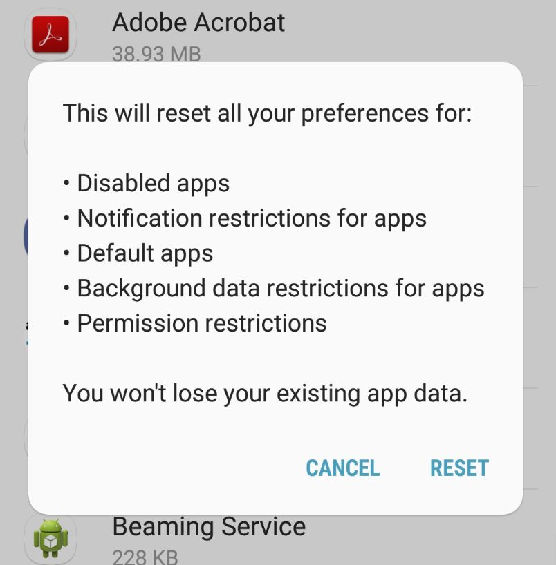 How To Reset App Preferences Android