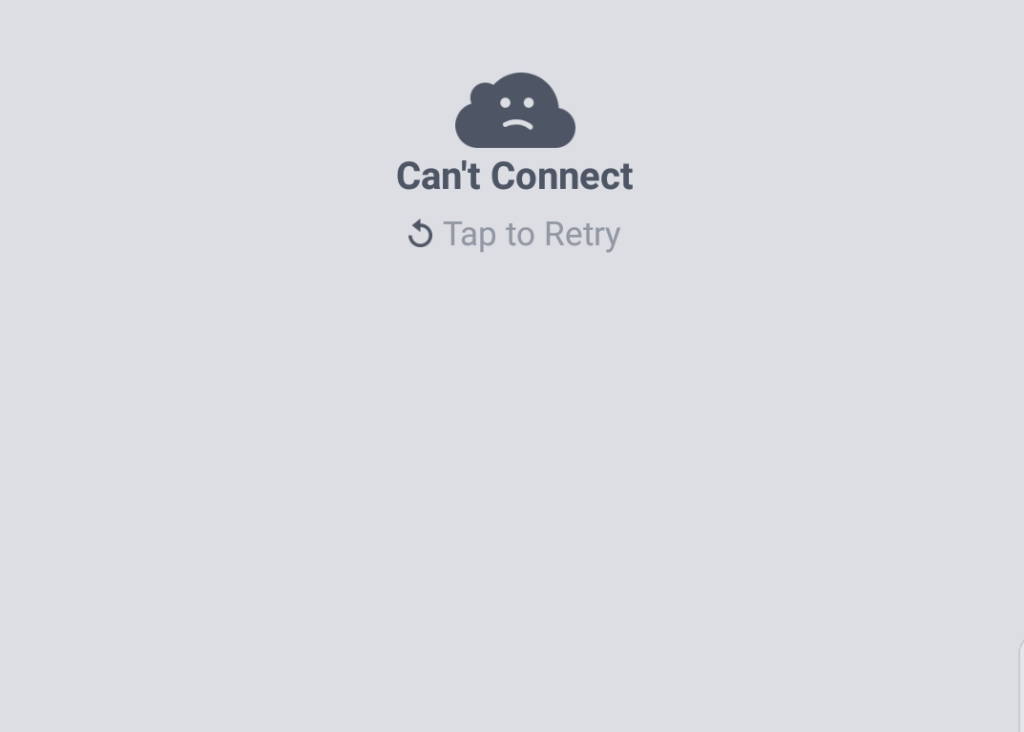 can't connect Tap to retry Facebook Fix