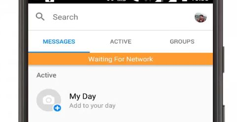 Fix Waiting for Network in Messenger app