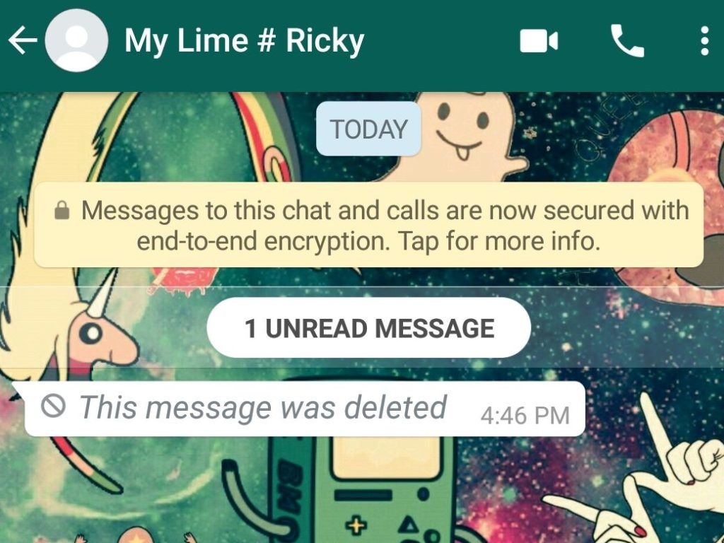Delete sent Whatsapp messages and Read Messages Deleted by Sender