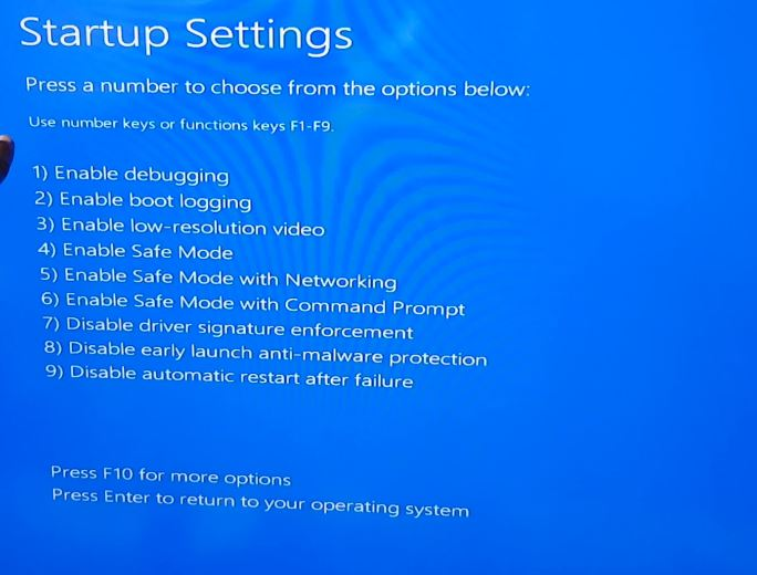 How to Place Windows 10 into Safe Mode