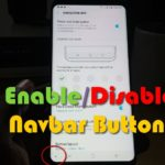 Enable or disable the Navigation bar Show and Hide Button on the Galaxy S9 and S8
