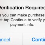 Verification Required Message When Installing Free Apps from The App Store Fix