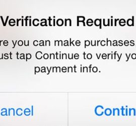 Verification Required Message When Installing Free Apps from The App Store