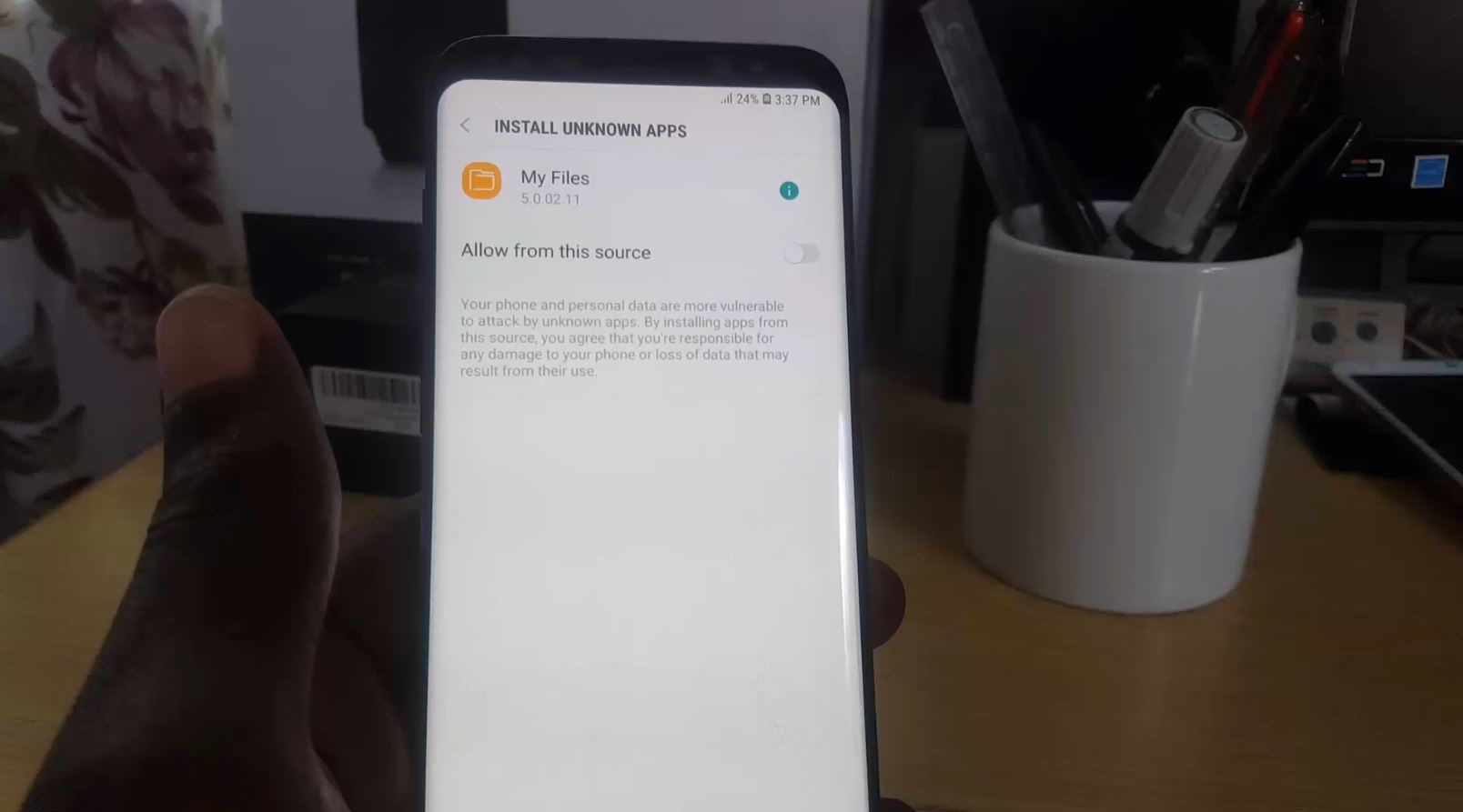 How to Install  apk files on the Galaxy S9 with New Unknown