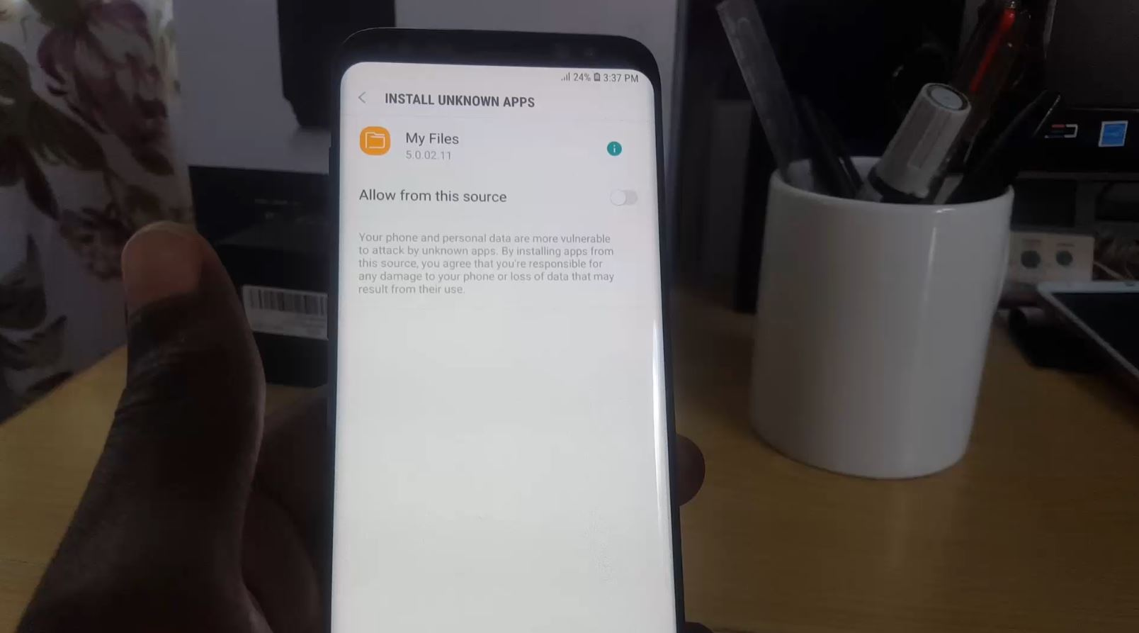 How to Install  apk files on the Galaxy S9 with New Unknown Sources