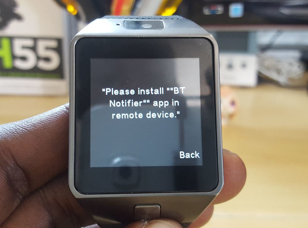 Please install BT notifier app in remote device Fix for