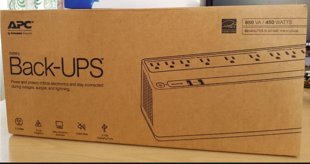 APC 850VA UPS Battery Backup & Surge Protector