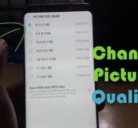 How to adjust the Video and Picture Quality on the Galaxy S8