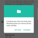 How To Fix Whatsapp Backup Problem