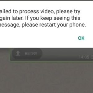 Download Failed The download was unable to Complete Whatsapp
