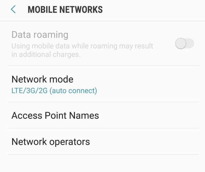 How to switch between LTE/3G/4G