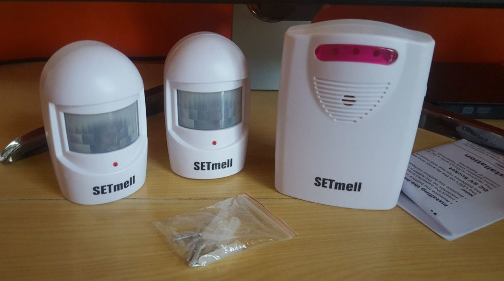 SETmell Wireless Home Security Driveway Alarm and Doorbell