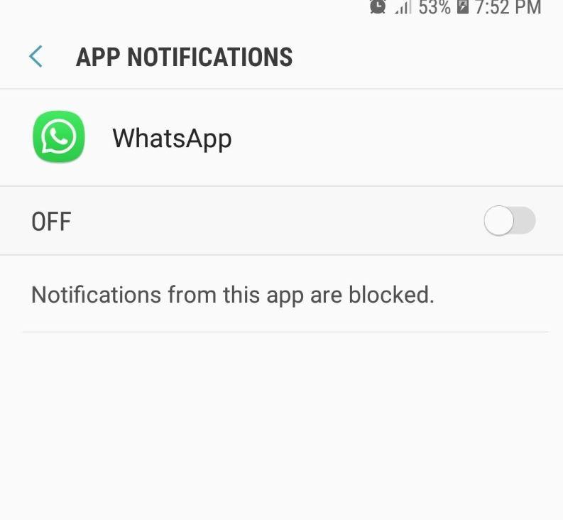 Not receiving Whatsapp Notifications Problem