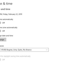 Time Automatically Changes Windows 10