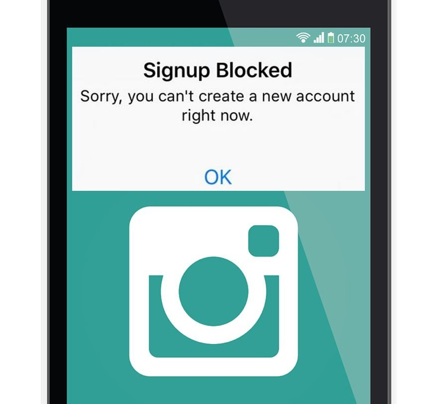Fix Instagram Signup Blocked - BlogTechTips