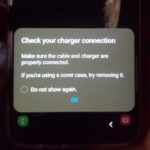 Check Your Charger connection Error Fix