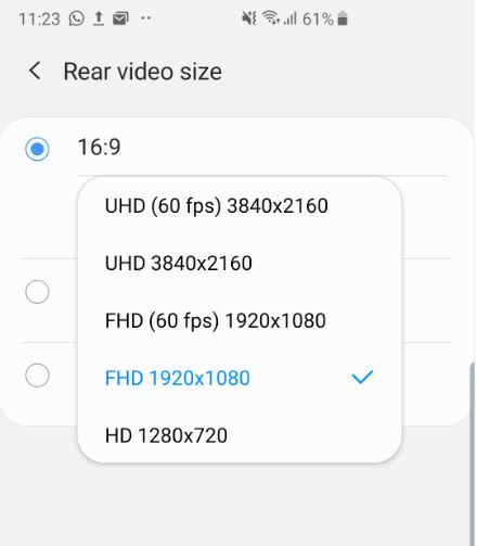 How to Record in UHD 60 fps Galaxy S10
