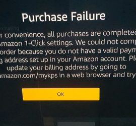 Purchase Failure Amazon Fire TV Solution