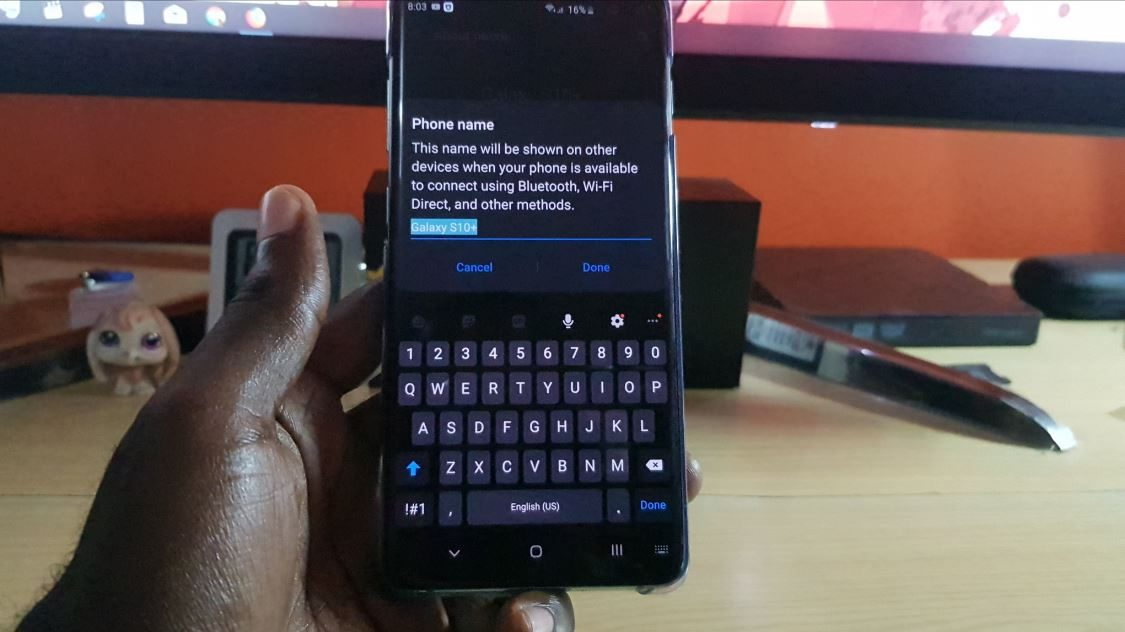 Change the name of your Samsung Galaxy S10 for Bluetooth and
