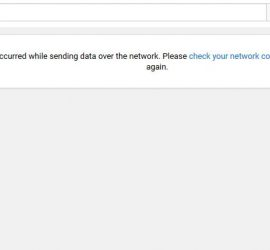YouTube An Error has Occurred while sending data over the network Fix