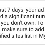 In the Past 7 Days Your AD Code has appeared a significant number of sites you don't own Fix