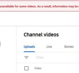 Data is currently unavailable for some videos