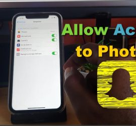 How to allow Access to Photos on Snapchat