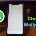 Change Whatsapp wallpaper on iPhone