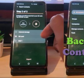 How to Backup Contacts Samsung S10