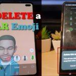 How to Delete a AR Emoji Samsung Galaxy