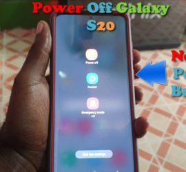 How to Power Off the Galaxy S20,S20 Plus, S20 Ultra