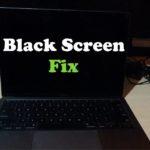 Macbook Black Screen Fix
