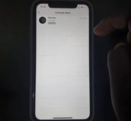How to hide Whatsapp Messages on iPhone
