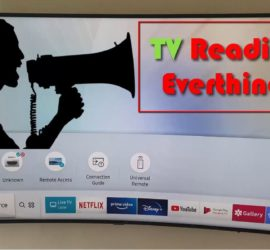Samsung TV Reading Everything out Loud